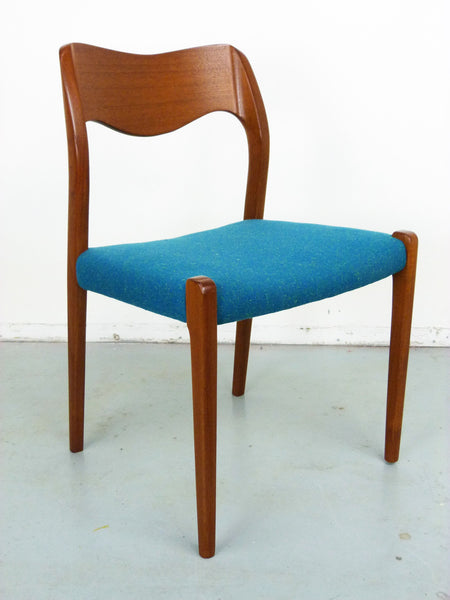 Niels Moller No. 71 Danish Modern Teak Dining Chairs Img 5