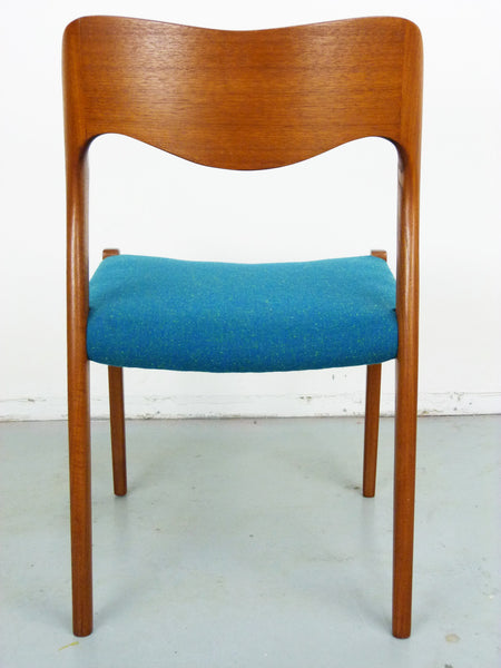 Niels Moller No. 71 Danish Modern Teak Dining Chairs Img 8