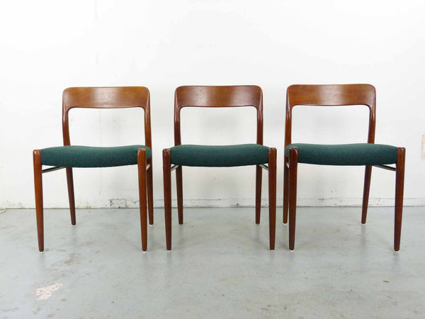 Niels Moller #75 Teak Dining Chairs Set 6 three 1