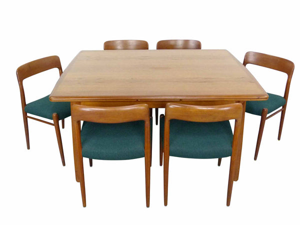 Niels Moller #75 Teak Dining Chairs with Svend Madsen Table