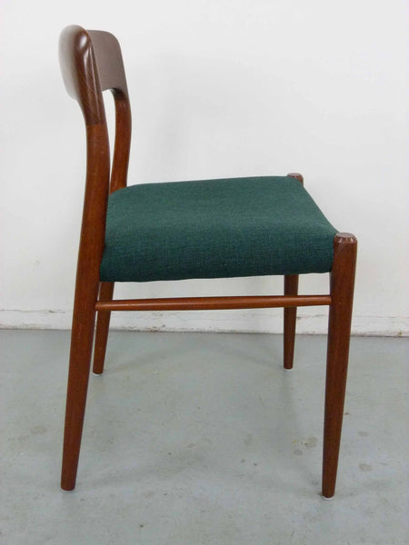 Niels Moller #75 Teak Dining Chairs Side