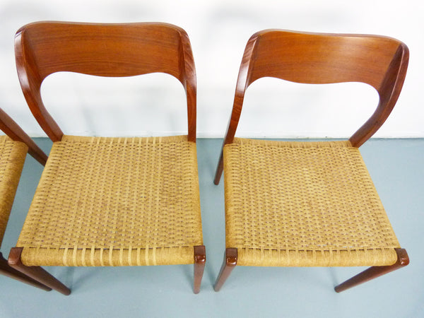 Niels JL Moller #71 Woven Dining Chairs Rush Rope 10