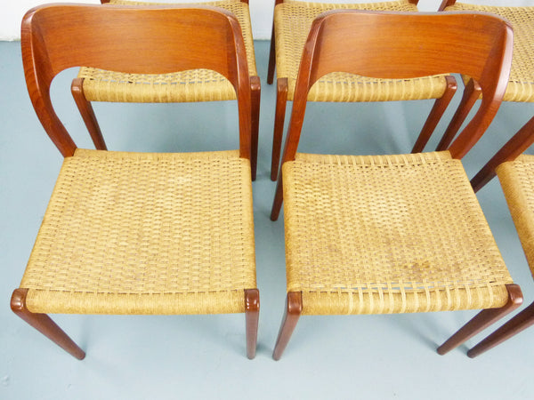 Niels JL Moller #71 Woven Dining Chairs Rush Rope 11