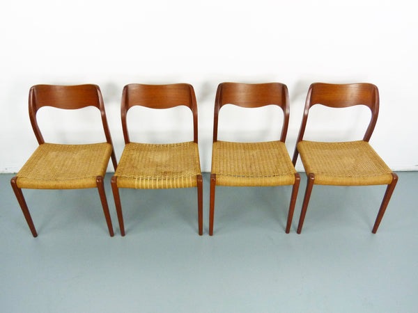 Niels JL Moller #71 Woven Dining Chairs Rush Rope 2