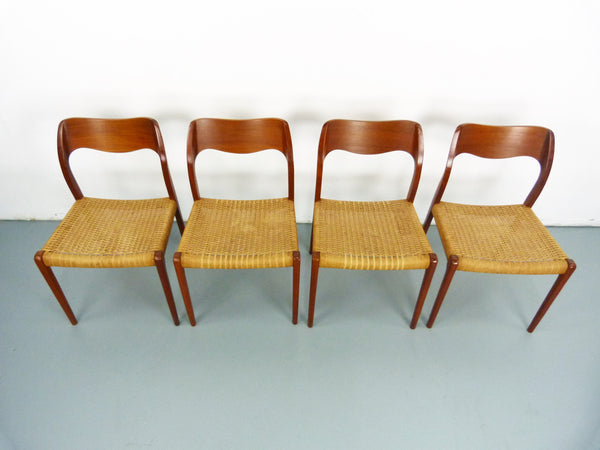 Niels JL Moller #71 Woven Dining Chairs Rush Rope 3