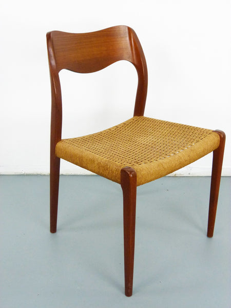 Niels JL Moller #71 Woven Dining Chairs Rush Rope 4