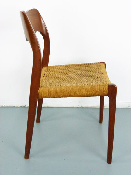Niels JL Moller #71 Woven Dining Chairs Rush Rope 5