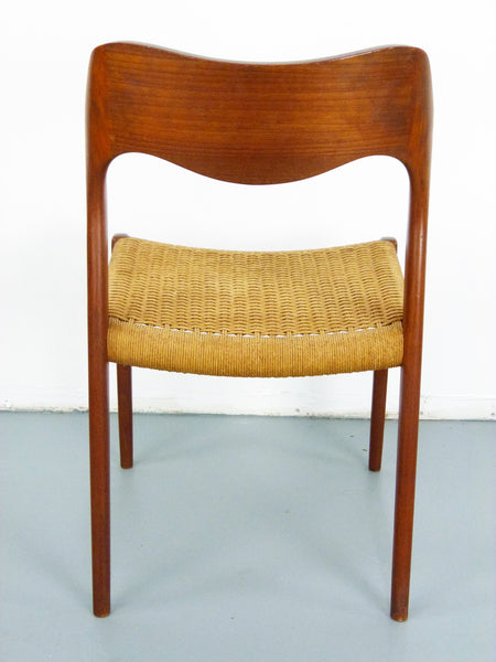 Niels JL Moller #71 Woven Dining Chairs Rush Rope 6