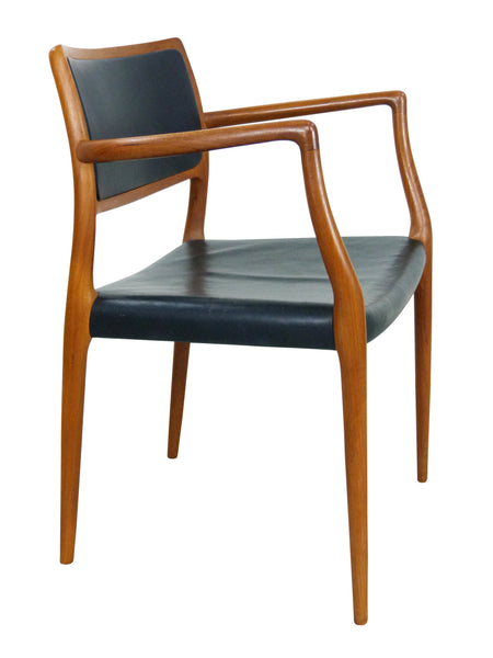 Niels Moller Rosewood Leather Armchair Danish chair 65 Vintage Modern Img 1
