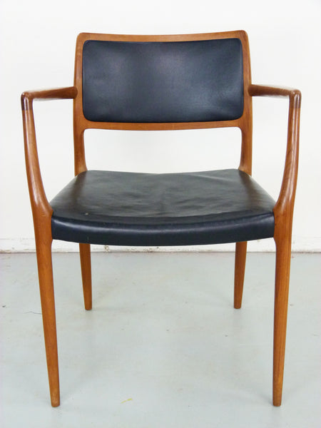 Niels Moller Rosewood Leather Armchair Danish chair 65 Vintage Modern Img 2