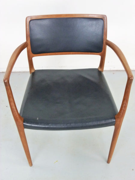 Niels Moller Rosewood Leather Armchair Danish chair 65 Vintage Modern Img 3