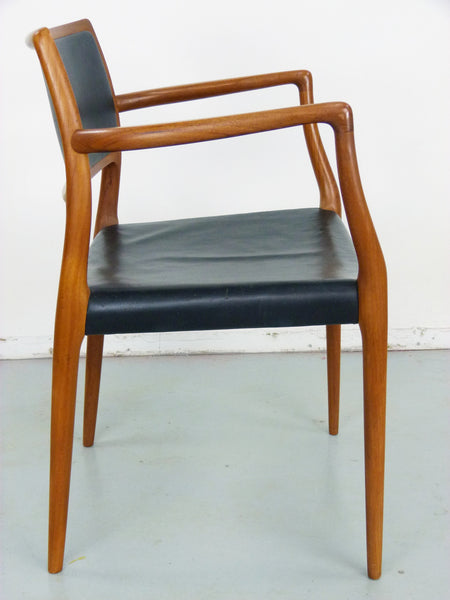 Niels Moller Rosewood Leather Armchair Danish chair 65 Vintage Modern Img 4