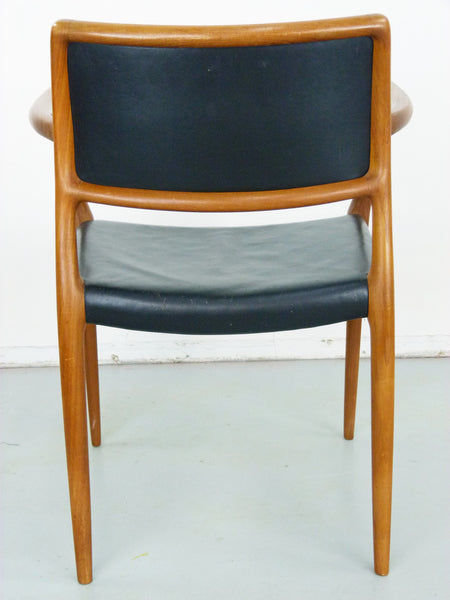 Niels Moller Rosewood Leather Armchair Danish chair 65 Vintage Modern Img 5