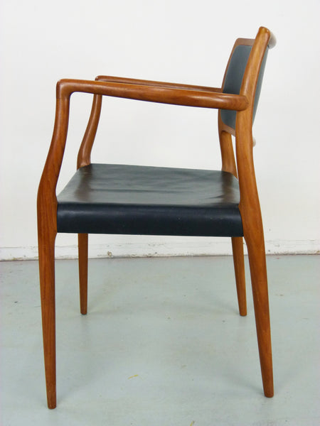 Niels Moller Rosewood Leather Armchair Danish chair 65 Vintage Modern Img 6