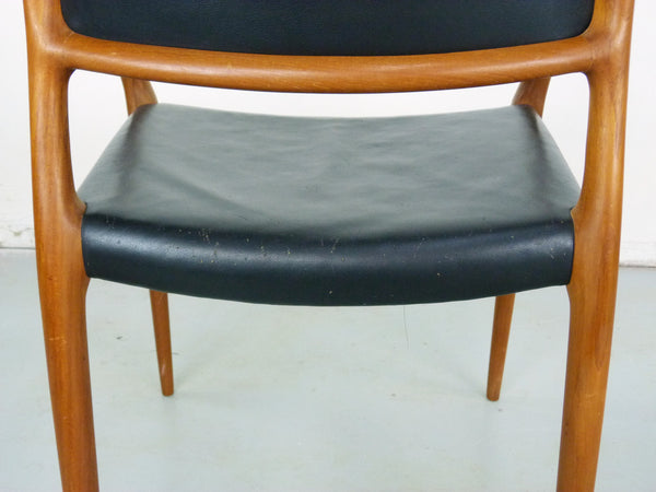 Niels Moller Rosewood Leather Armchair Danish chair 65 Vintage Modern Img 8