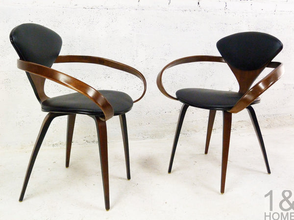 Pair of Norman Cherner Mid-Century Modern Pretzel Armchairs for Plycraft 2