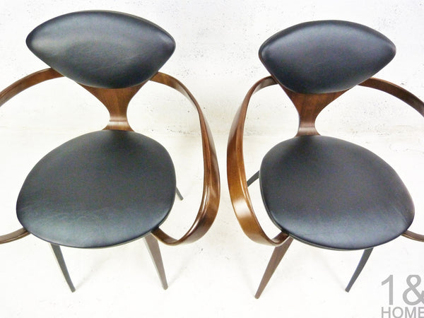 Pair of Norman Cherner Mid-Century Modern Pretzel Armchairs for Plycraft 3