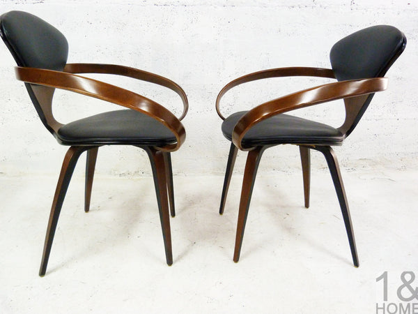 Pair of Norman Cherner Mid-Century Modern Pretzel Armchairs for Plycraft 5