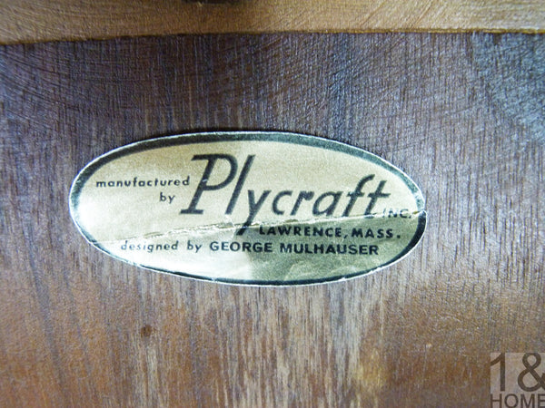 Pair of Norman Cherner Label Mid-Century Modern Pretzel Armchairs for Plycraft