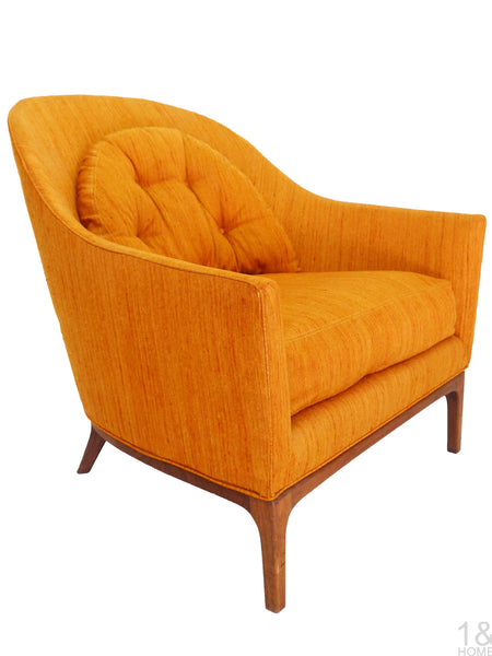 Barrel Back Mid-Century Club Lounge Chairs Wood Frame Milo Baughman Harvey Probber Img 3