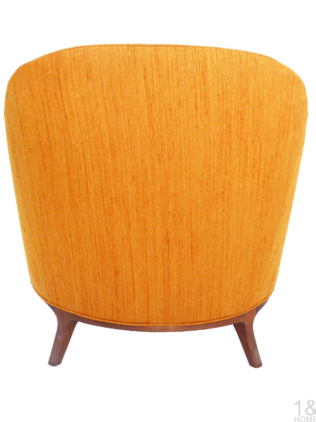 Barrel Back Mid-Century Club Lounge Chairs Wood Frame Milo Baughman Harvey Probber Img 5