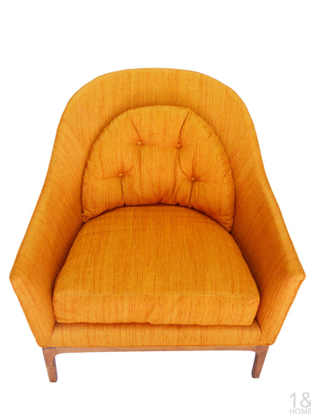 Barrel Back Mid-Century Club Lounge Chairs Wood Frame Milo Baughman Harvey Probber Img 6