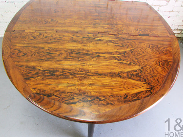 Kurt Ostervig Danish Modern Rosewood Drop Leaf Dining Table img 5