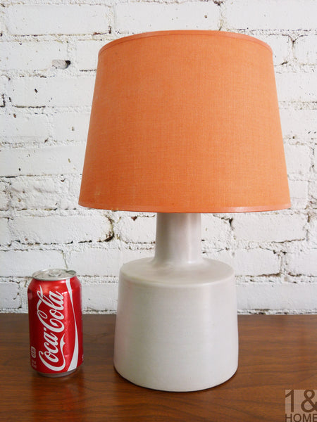 Gordon Martz for Marshall Grey Ceramic Table Lamp 2