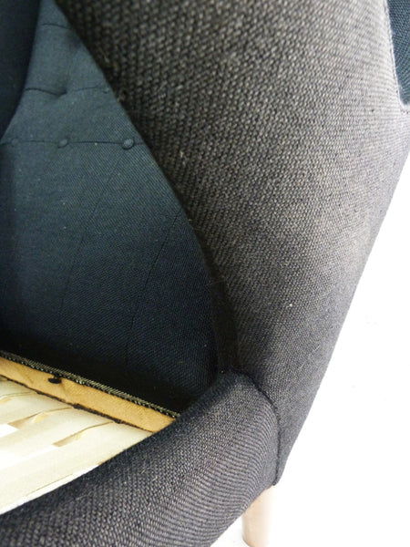 AP-19 Original Papa Bear Chair by Hans Wegner for AP Stolen - Black
