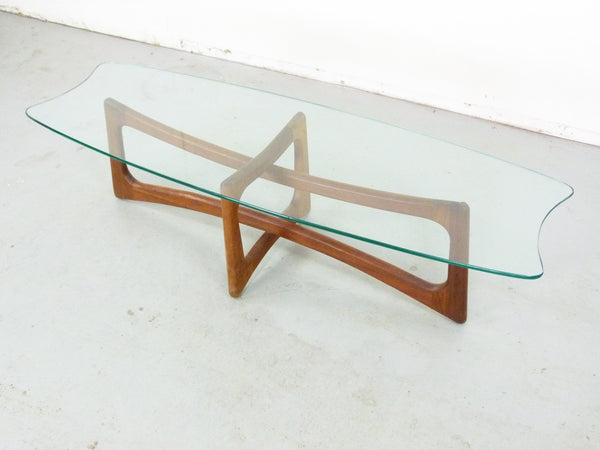 Adrian Pearsall Model 2454-TGO Ribbon Coffee Table Scultpural Img 2