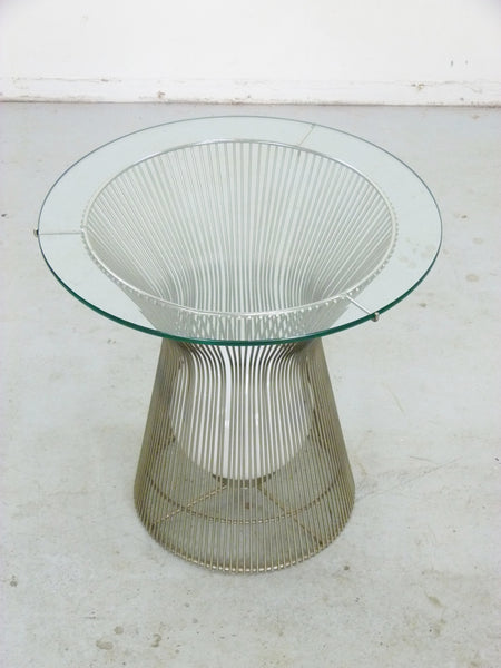Warren Platner Style Table with Light Knoll 4