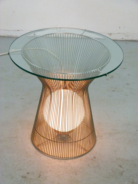 Warren Platner Style Table with Light Knoll 5