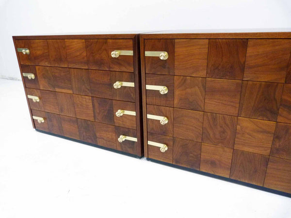 Renzo Rutili for Johnson Furniture Chest of Drawers, Pair