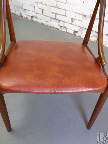 Danish Modern-Style Johannes Anderson Dining Chairs, S/4