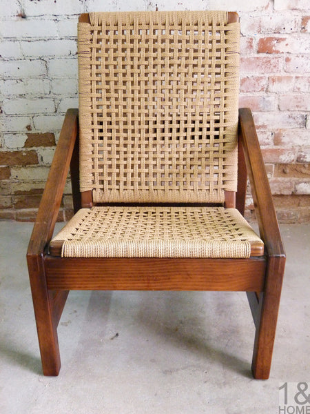 Rope Chair ER Clair Mid-Century Danish Modern 1