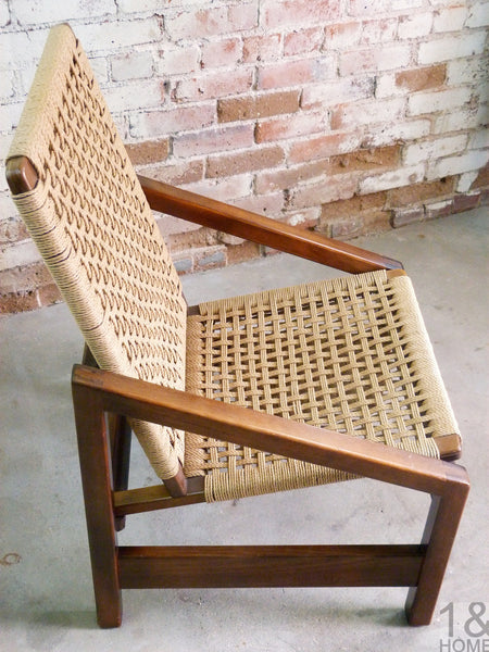 Mid-Century Rope Lounge Chair