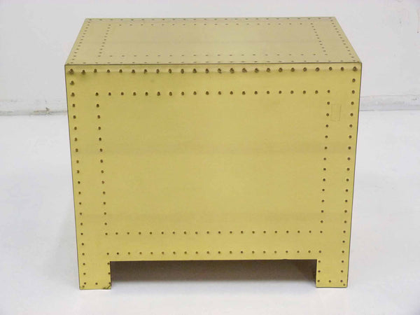 Sarreid Vintage Brass Three Draser Chest night stand table 6