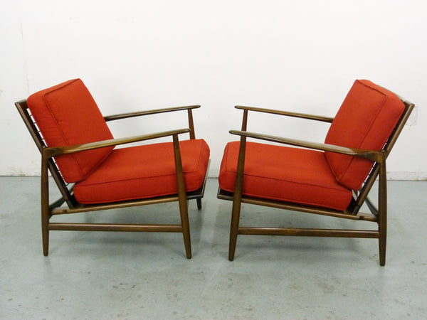 IB Kofod Larsen for Selig Lounge Chairs Mid-Century Danish Modern 3