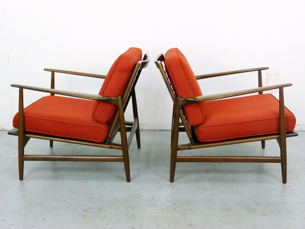 IB Kofod Larsen for Selig Lounge Chairs Mid-Century Danish Modern 6