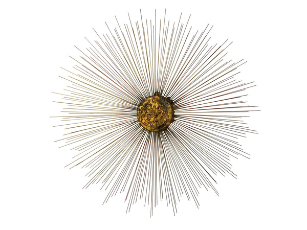 Mid-Century Sunburst Wall Sculpture 1