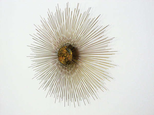 Mid-Century Sunburst Wall Sculpture 2