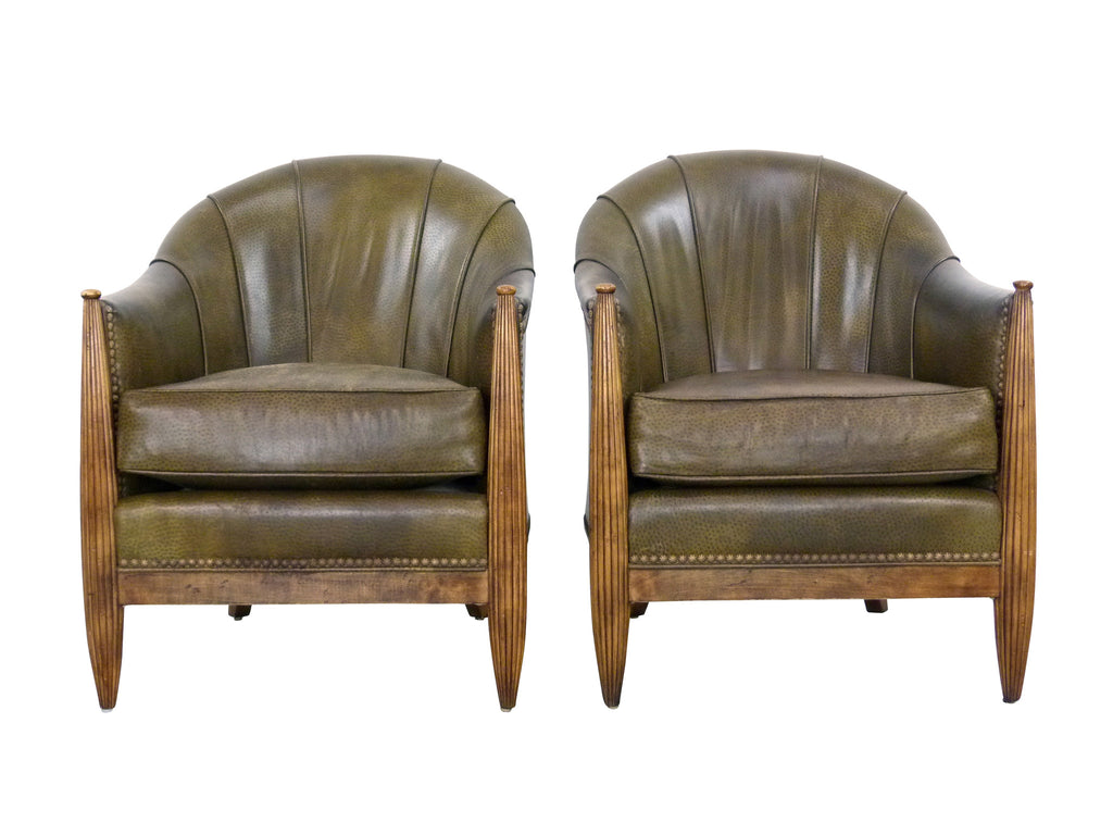 Ordinaire French Art Deco F112 Barrel Chairs Swaim Img 1