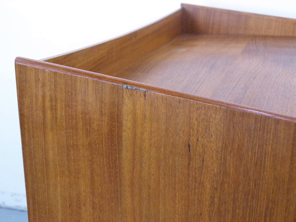 Bedside Tables Danish Modern Teak Caned Shelf Drawer Img 9