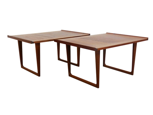 Danish Modern solid teak side end tables Img 0