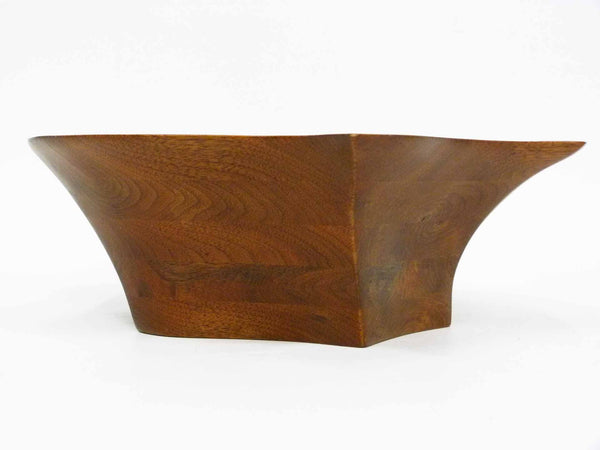 Turned Sculptural Walnut Bowl Robert Powers 6