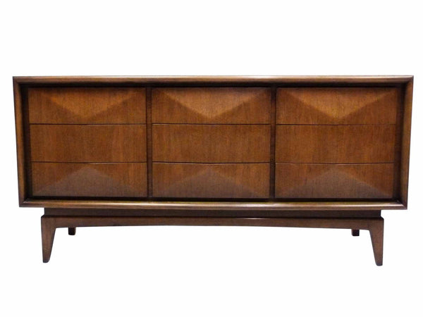 Diamond-Front Walnut Dresser by United 1
