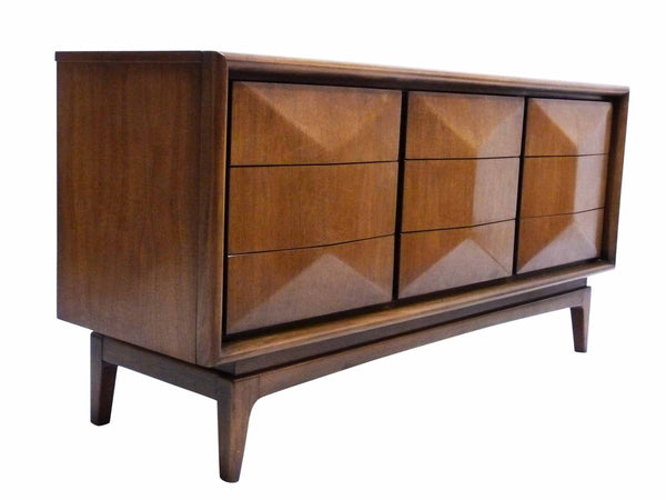 Diamond-Front Walnut Dresser by United 2