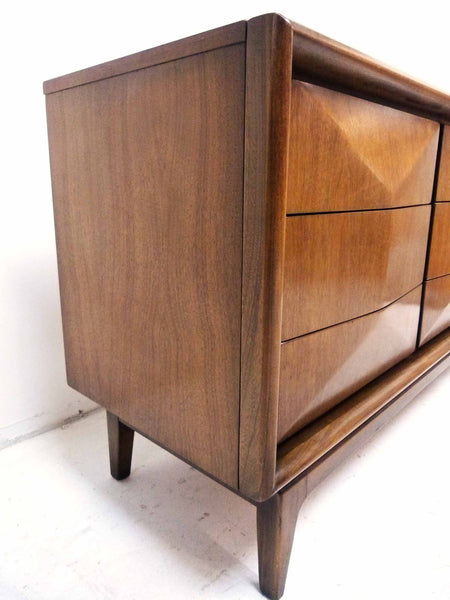 Diamond-Front Walnut Dresser by United 5