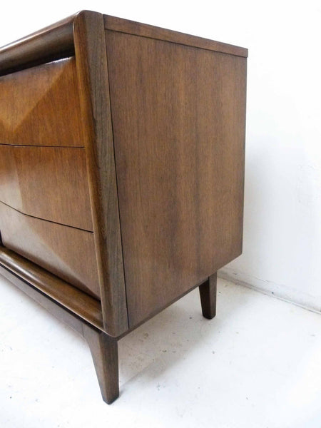 Diamond-Front Walnut Dresser by United 6