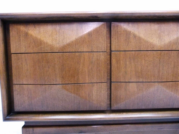 Diamond-Front Walnut Dresser by United 7